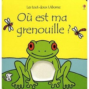 """Livre """"ou est ma grenouille"""" tout doux"""