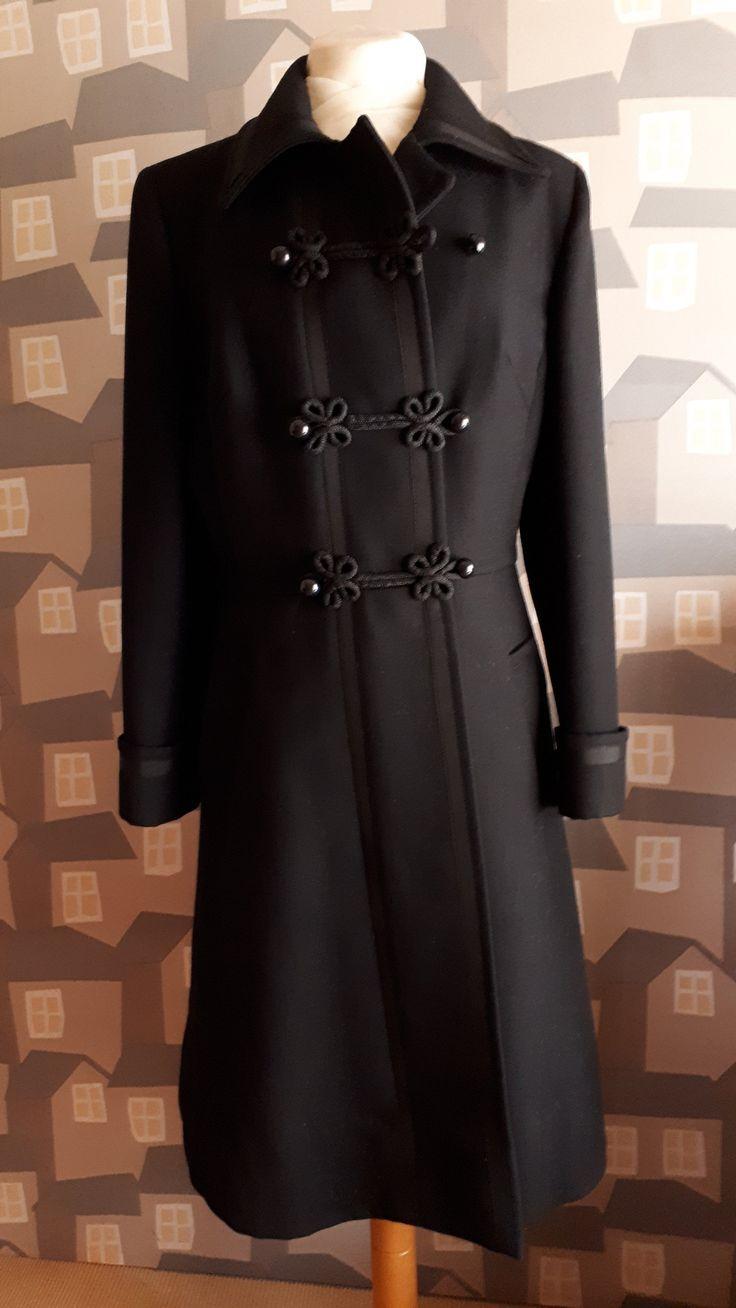 Black Wool Coat Coats For Women, Ladies Black Wool Trench Coat Uk