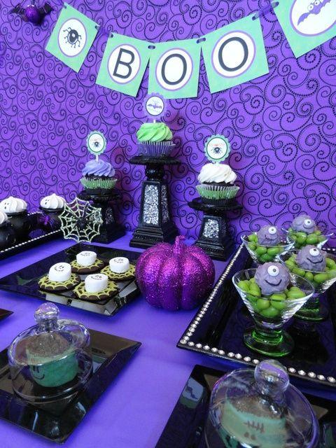 Pretty purple dessert table
