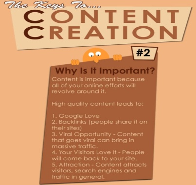 #2 - The Keys To Content Creation - Why is it important? Visit Website SEO Chick FB page at http://www.facebook.com/websiteseochick