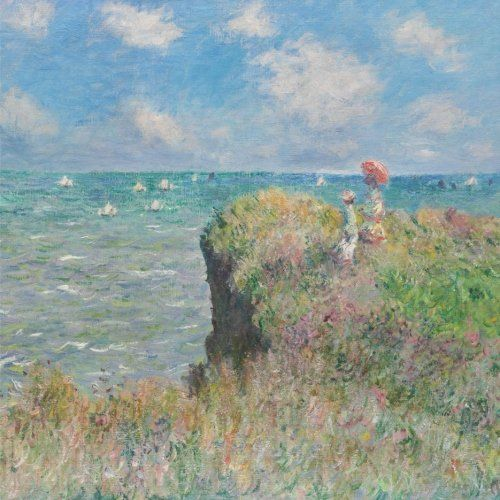 Cliff walk at Pourville, Claude Monet. Blank journal: 150 blank pages, 8,5 x 8,5 inch (21.59 x 21.59 centimeters) Laminated. (Paper notebook, composition book) by Studio Beeker http://www.amazon.com/dp/1522918280/ref=cm_sw_r_pi_dp_agCFwb0C9BEW5