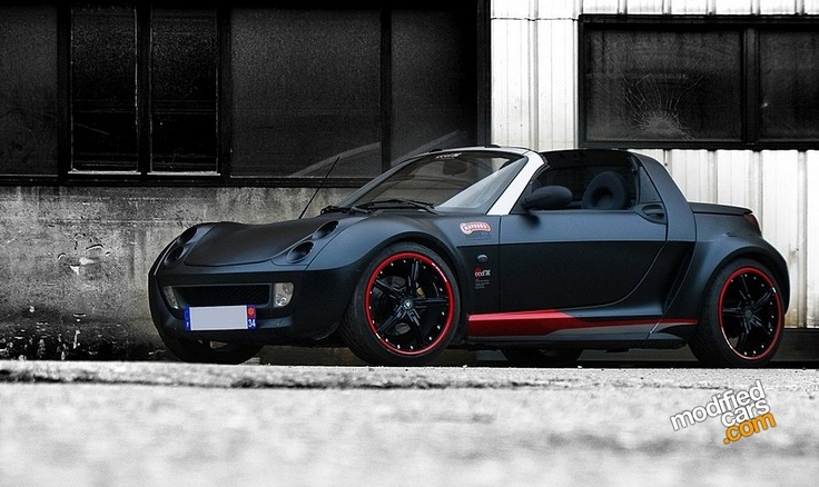Smart Roadster, I've got one but this custom one is real nice.