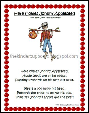 #johnny #appleseed #song - visit #The #Kinder #Cupboard blogspot for your #FREE download.