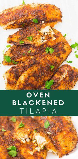Oven Blackened Tilapia