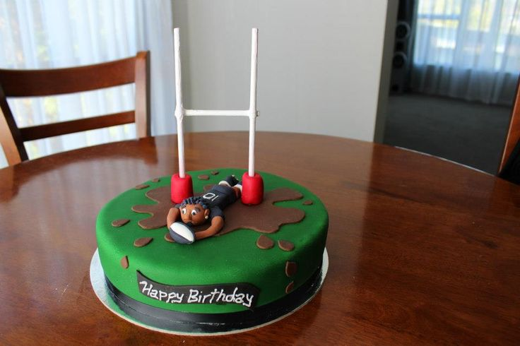 Cake Decorating Ideas Rugby : Rugby try cake #try #allblacks #rugby #cake Favorite ...