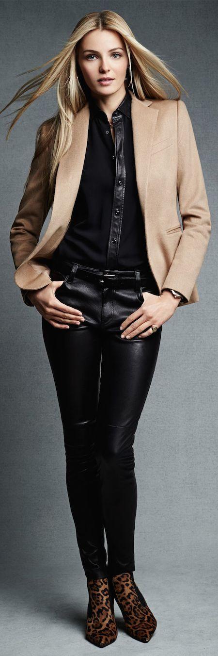 Black Label Stretch-Leather Abbey Pant: Ralph Lauren Black Label New  Arrivals