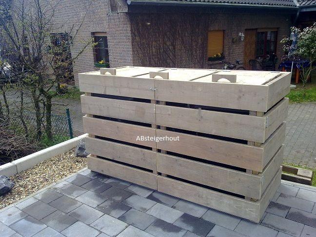 Kliko-ombouw afvalbak container