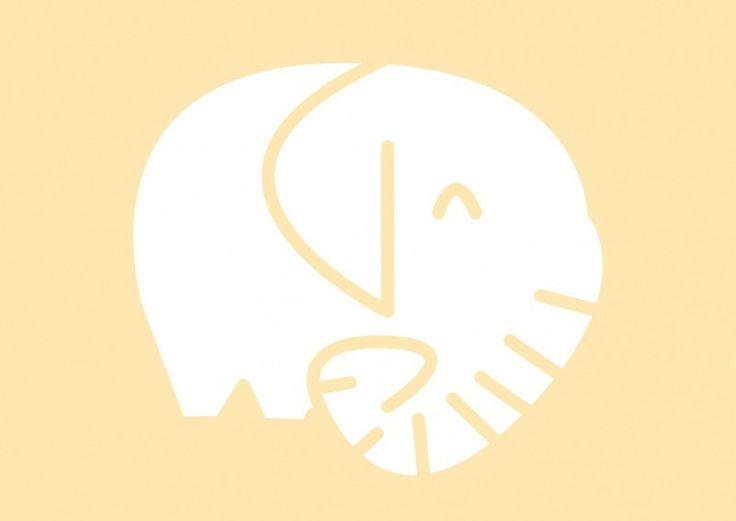 Dierenkaart olifant Ansichtkaart in pastel geel met een lief olifantje. Leuk voor aan de muur op de kinderkamer! Maar versturen mag natuurlijk ook! A6 formaat. Decoratie wanddecoratie kinderkamer babykamer pastel kleuren tinten ansichtkaart postkaart kaartje dieren
