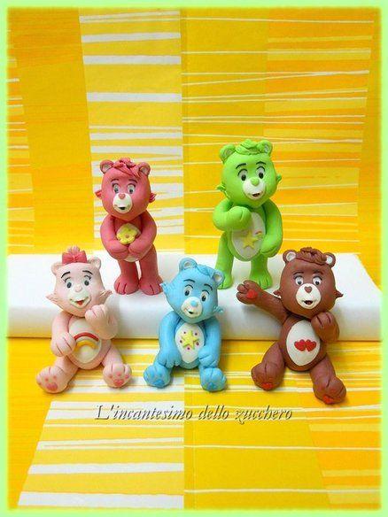 Gli orsetti del cuore (care bears) Cake by Incantesimozucchero