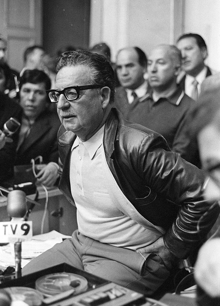 Salvador Allende - Mártir de Chile. Another legit politician overthrown for US/CIA interests