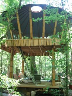 Sunrise Oasis Yurt - This inventive campsite is located on the Santa Fe River near High Springs, FL.