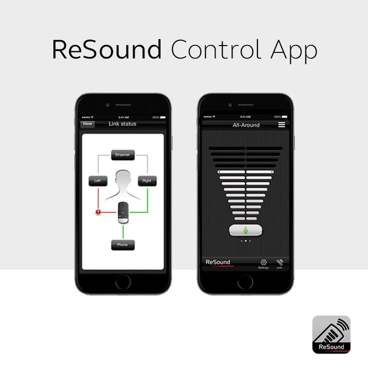 ReSound Control App  Take control of your wireless hearing aids. Adjust the volume of each hearing aid independently for greater listening comfort; change your hearing- aid programs on the go; check your connections.