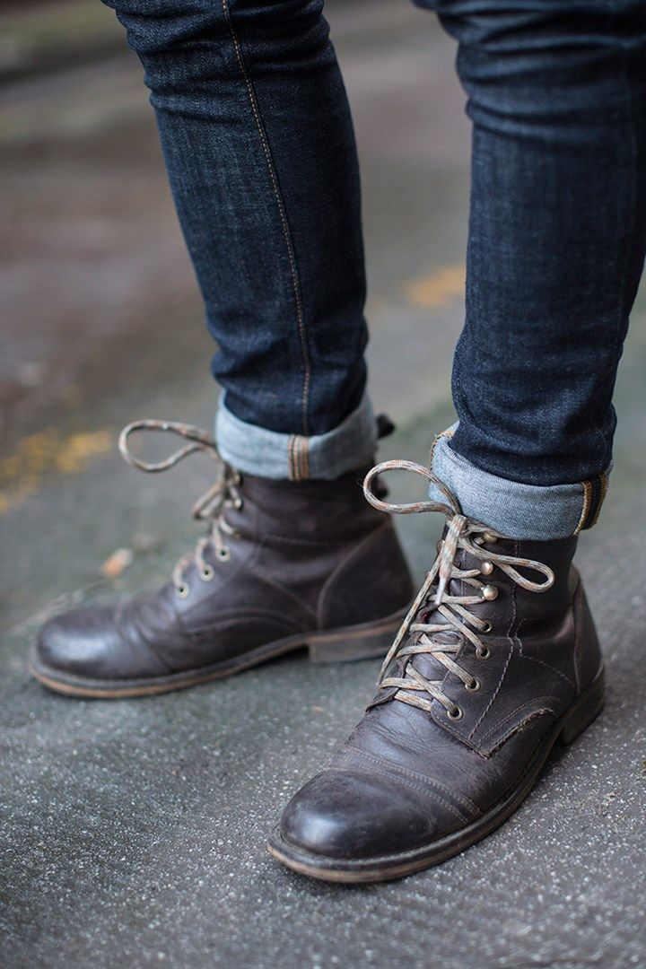 Cuffed Denim & Ryan Gosling Style Boots