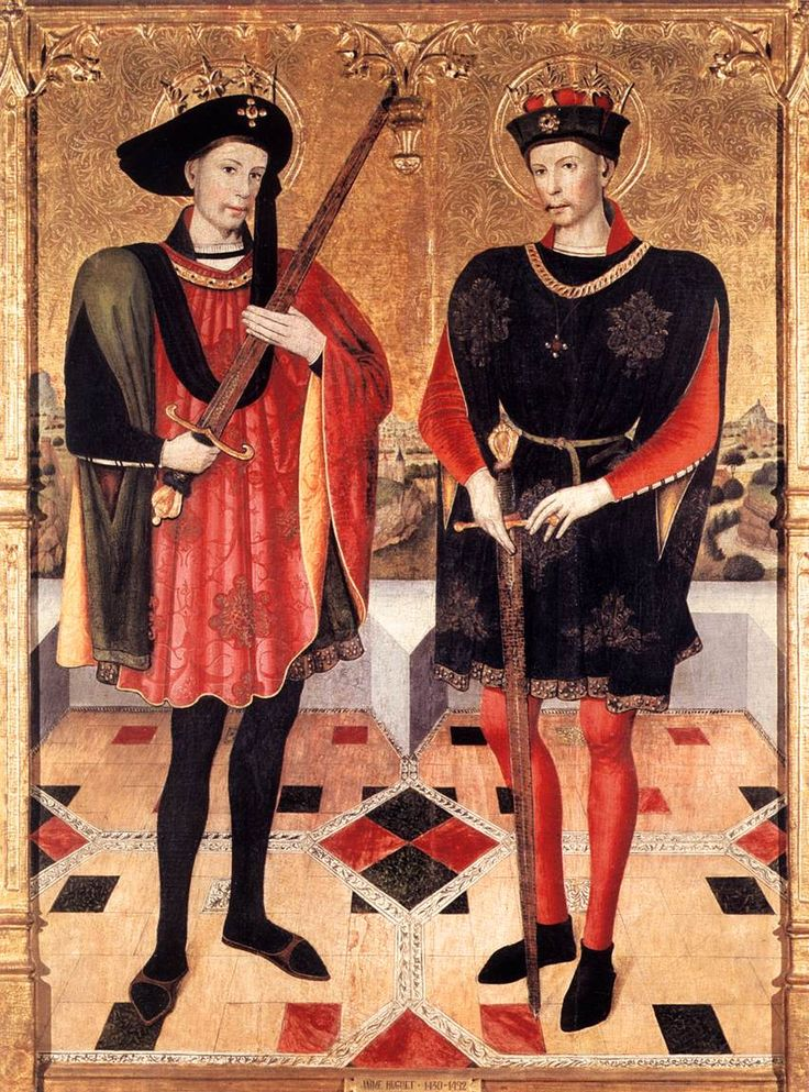 Jaume Huguet. Sts Abdon and Sennen 1459-60 Mixed technique on wood, 290 x 220 cm Santa Maria d'Egara, Terrassa