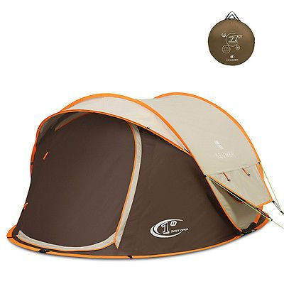 Devaise Camping Hiking Tent Easy Setup Hiking Outdoor Rain-proof Gold