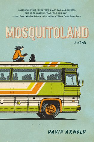"Mosquitoland by David Arnold. """"Mosquitoland"" is a modern American odyssey, as hilarious as it is heartbreaking."" --GoodReads.com #teen #realisticfiction"