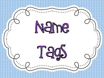 Printable name tags! You have to head over to my blog to see how I use these! These adorable cubby tags coordinate with my neon/polkadot theme!...