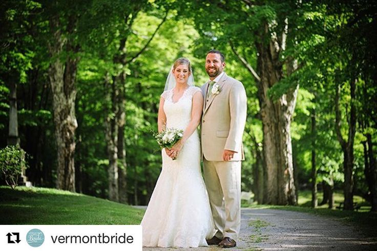 """#Repost @vermontbride with @repostapp  Suzanne and Joe wanted to keep their wedding as """"Vermont"""" as possible working with many amazing local #vendors to bring their vision to life. See their #real #Vermont #wedding photos here: LINK ON BIO!  Featured Professionals   LIGHTING & RENTALS: Celebration Rentals Inc.   PHOTOGRAPHY: Duback Photography   VENUE ACCOMMODATIONS CATERING BAR SERVICE: The Inn at Weathersfield   CAKE: Irene's Cakes by Design   WEDDING GOWN: Marry and Tux Bridal Shoppe…"""
