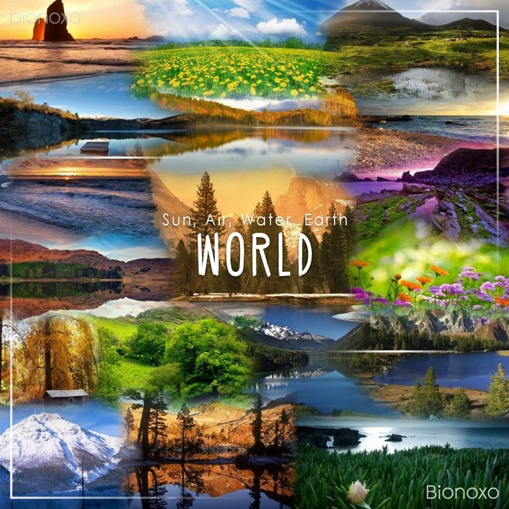 Sun, Air, Water, Earth #World with the beauty of nature... #Bionoxo
