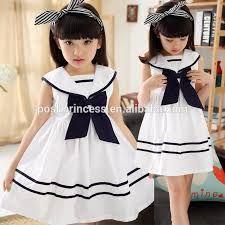 Resultado de imagem para vestido infantil tipo marinheiro