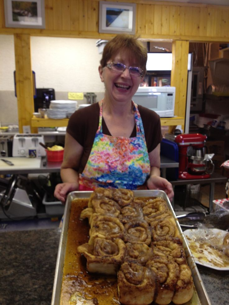 Country Kitchen at Holiday Park Resort.... best darn cinnamon buns in the Okanogan!!!!  Best darn cook in the Okanogan too!!