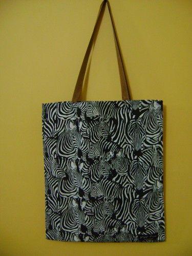Zebra Desenli Çanta (Kahverengi Saplı) | Hepsi Ev Yapımı