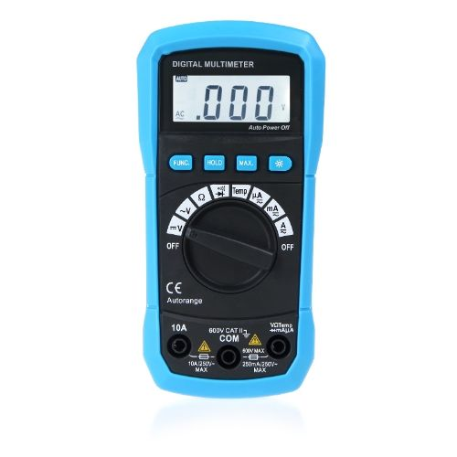 Digital Multimeter DMM Temperature Measurement Auto-range Max. Data Holding LCD Backlight