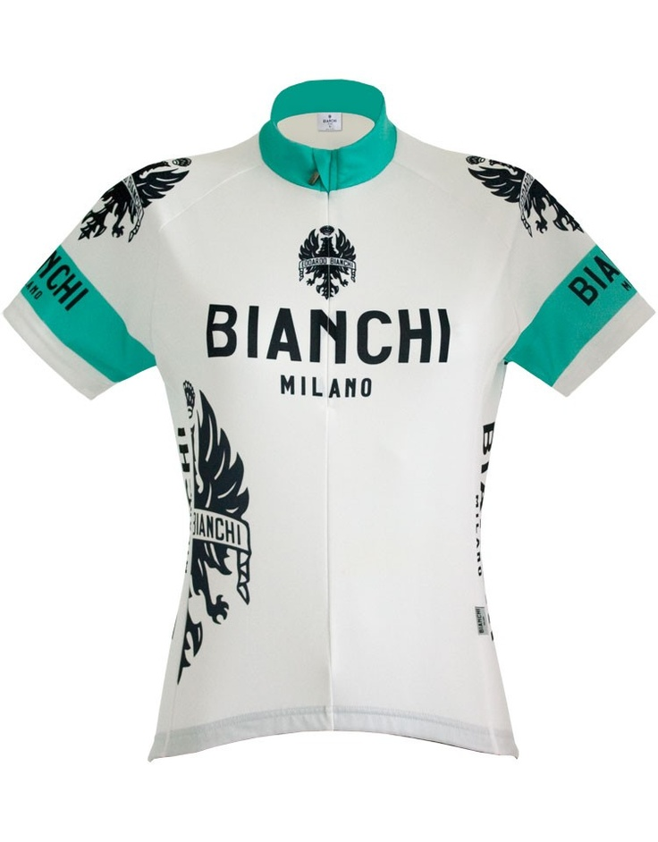 Bianchi Milano Womens Performance Eddi SS FZ Cycling Jersey, Clothing, ProBikeKit Canada - Finally, no pink, and nice design!