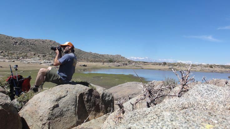 Fotografiando en la Laguna, parte alta de Chicauma