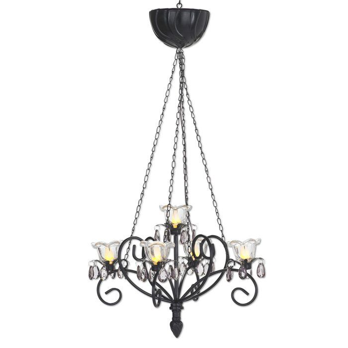 kami series battery powered chandelier this is my. Black Bedroom Furniture Sets. Home Design Ideas