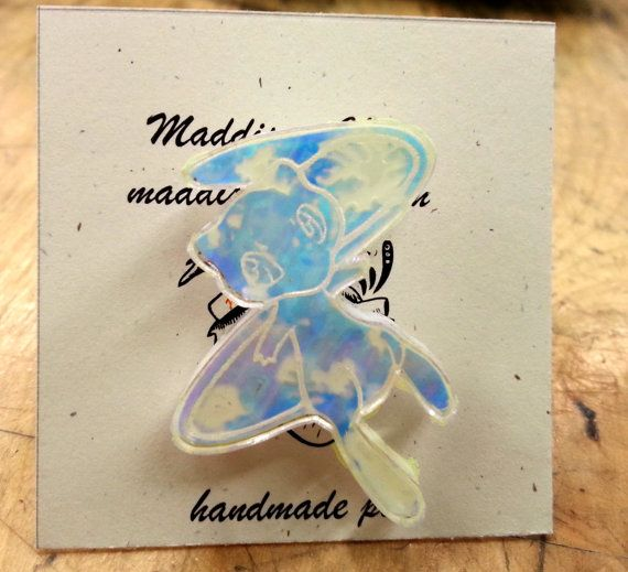 Mew Pokemon Pin  Laser Cut Jewelry  by MaddisonCherie on Etsy