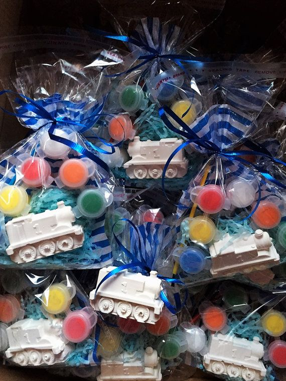 Thomas Train Party Favors - DIY, Thomas party favors with paint and brush. Boys girls, gift, large.