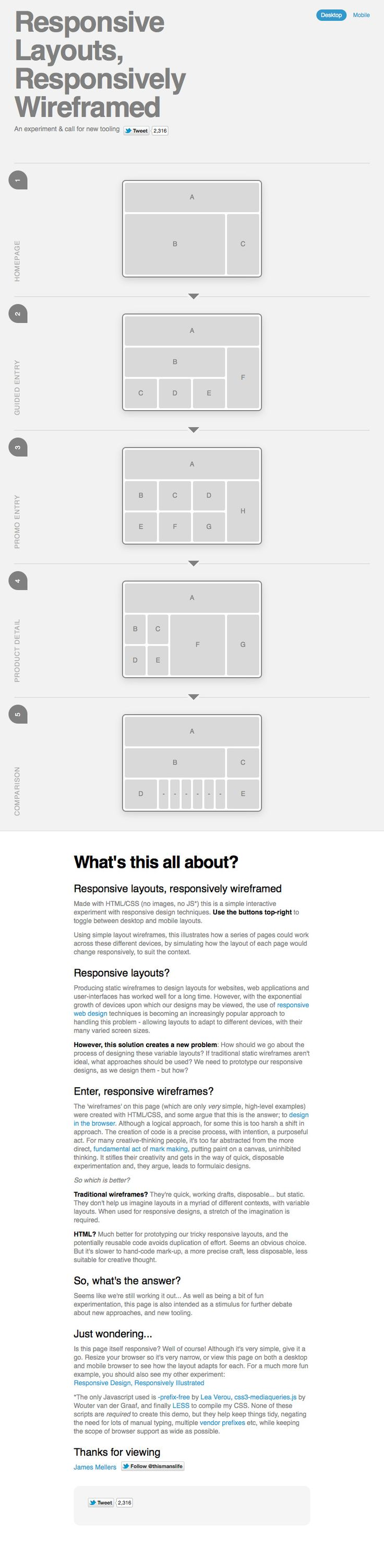 #responsive web design UX wireframe