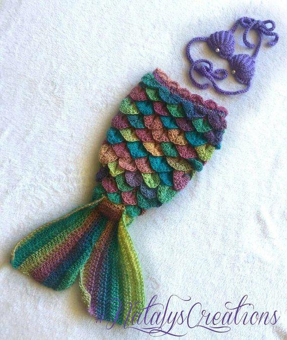 Dorable Crochet Patrón De Cola De Sirena Motivo - Ideas de Patrones ...