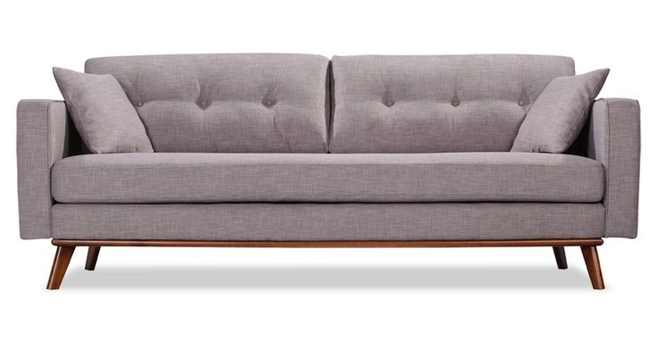Frey sofa in grey tweed 3 seater sofas sofas volo for Grey tweed couch