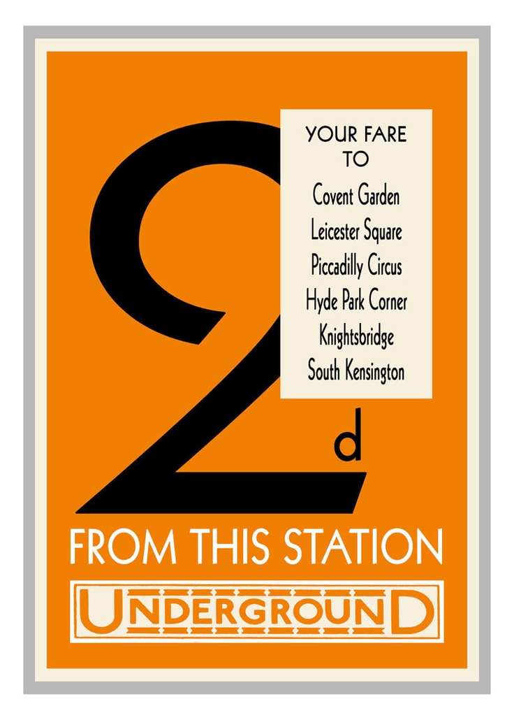 London Underground Fare Poster Vintage Print - Number 2 by customthings on Etsy