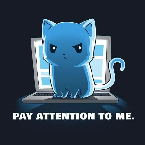 Pay Attention To Me   Funny, cute & nerdy shirts   TeeTurtle