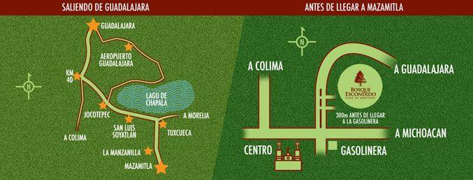 Bosque Escondido :: Ubicación de Bosque Escondido en Mazamitla Jalisco