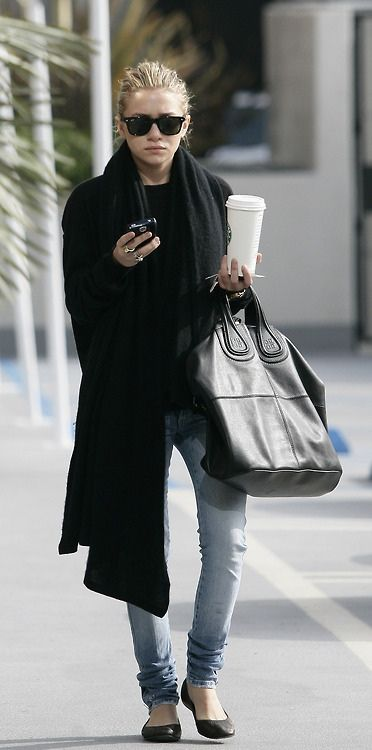simple errand attire #black