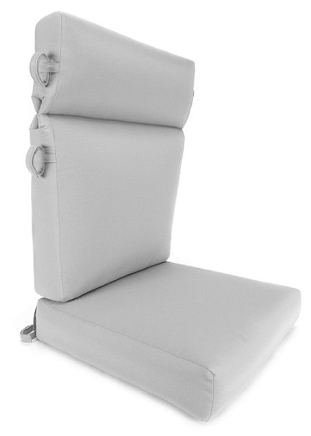 "Deluxe 2-Piece High Back Club Chair Cushion Set 21"" Wide  Should Fit Really well.  4.5 inches deep.  $136.00"