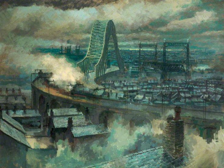 The Three Bridges, 1963 by Geoff Yeomans (British b. 1934)
