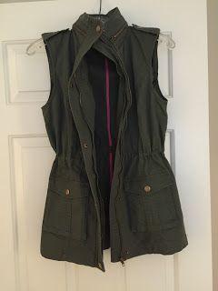 Like this vest...dream a little dream VT : Stitch Fix #7 - July 2015 Fix - Market & Spruce Jahana Cargo Vest