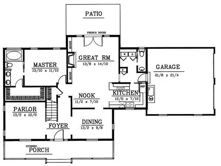 49 best cape cod floorplans images on pinterest for Classic cape cod house plans