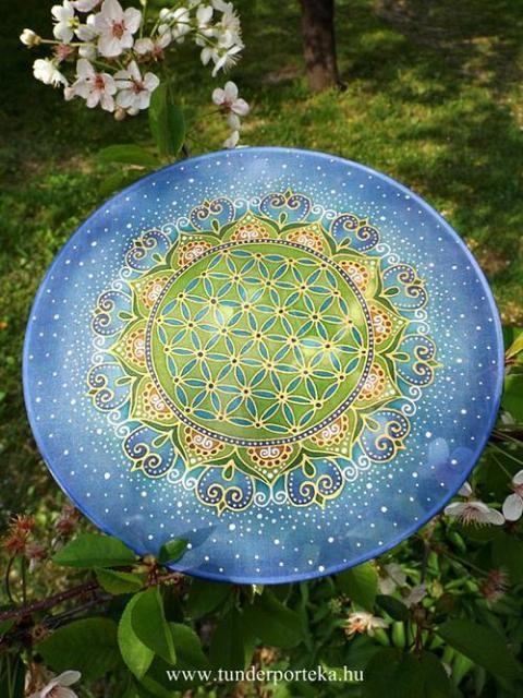 Csillagok között selyem mandala - 25 cm #mandala #floweroflife #életvirága #selyemmandala #selyemfestés #silkpainting #silkmandala