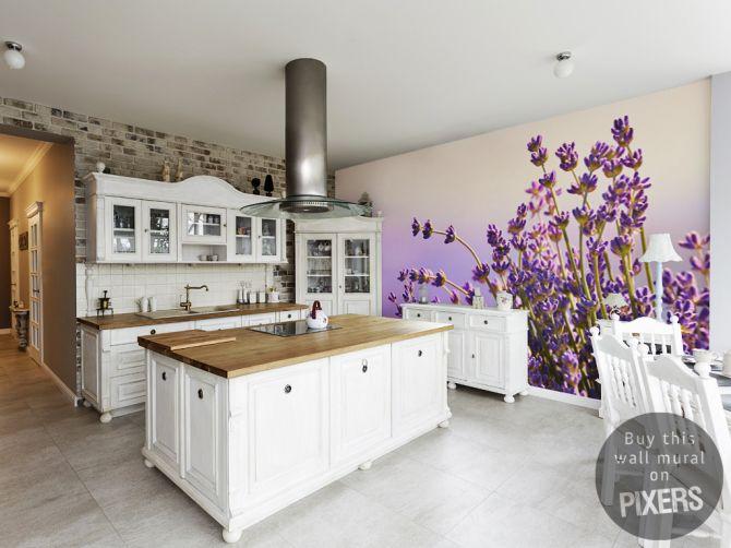 Wall Mural Lavender kitchen wall mural • Inspirations • PIXERSIZE.com