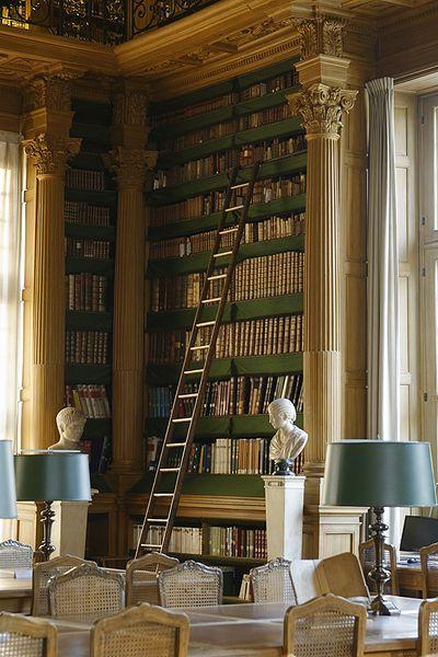 Library porn:Salle de lecture de la Bibliotheque Mazarine Paris