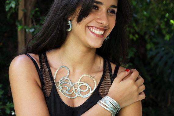 Handmade Choker. Contemporary Jewelry by Kairajewelry on Etsy