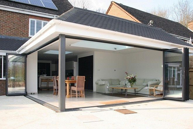 kitchen extension roof designs bifold door extension yahoo image search results home 4747