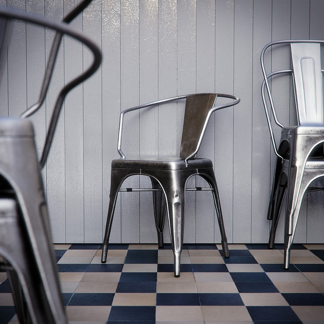 Tolix Chairs by BBB3viz, via Flickr