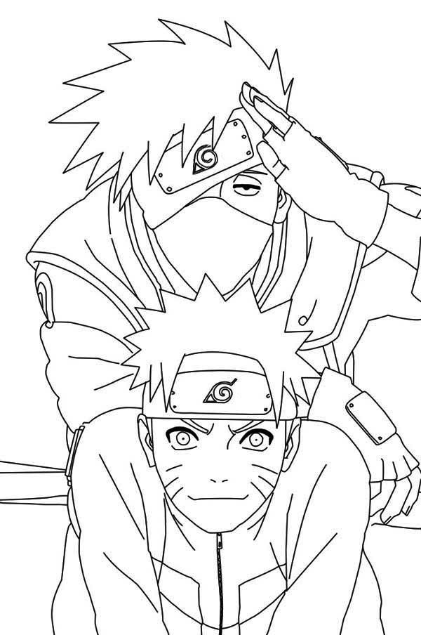 find this pin and more on naruto and kakashi the best naruto student sensei relationship by aikocloudjumper naruto and kakashi coloring pages